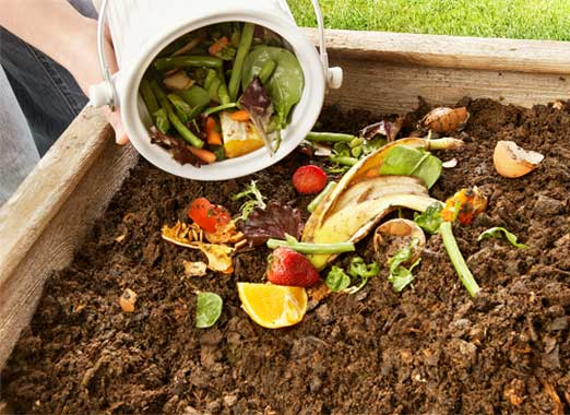 Composting food in soil